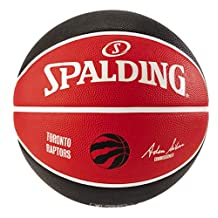 "Spalding Toronto Raptors Rubber Team Basketball,29.5""/ Size 7,Red/Black/White"