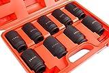 Shankly 9 Piece Axle Nut Socket Set, Axle Socket Set (3/4' Drive)