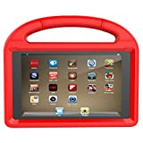 Fire HD 8 Tablet Case,Koantree Kid-Proof Shockproof Protective Stand Cover Case for Amazon Fire 8 Inch Tablet (7th Generation,2017 Release) or (6th Gen,2016 Release) (Red)