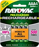 Rayovac Rechargeable AAA Batteries, Rechargeable Triple A Batteries (4 Count)