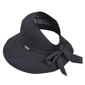 MINXINWY_ Gorras de Pescador Mujer, Sombrero de Paja de Color ...