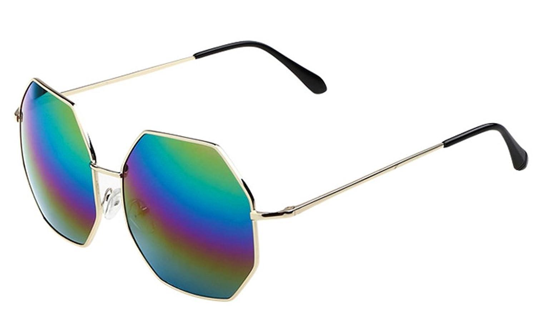 d355e51cb4 Fashion Frog Mirror Sunglasses Mirror Golden Frame 7 colour reflectors  Mirror Lens 80%OFF