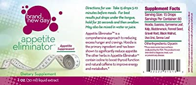 Appetite Eliminator-1OZ-Appetite Suppressant, With Hoodia Gordonii Cactus Extract, For Diet, Weight Loss, Boost Thyroid