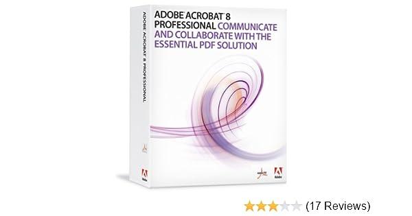Amazon com: Adobe Acrobat Professional 8 0 Upgrade from Pro