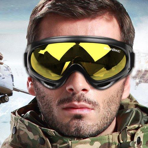 WOLFBIKE Ski Goggles Anti-Fog Double Lens Big Spherical Skate Snowmobile Snowboard Goggles