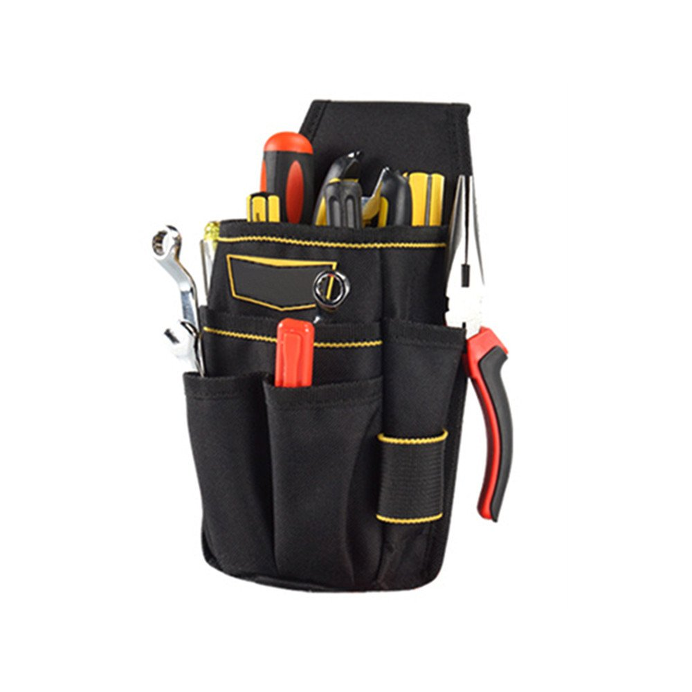 Mokylor Small Electrical Maintenance Tool Pouch Electrician's Tool Holder Work Organizer with Belt for Men and Women