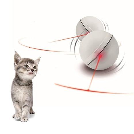 Sotoboo Juguetes de Gato automático Enrollable Bola luz Interactivo Entretenimiento Juguete de Ejercicio para Gatos y