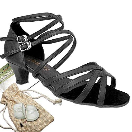 Women's Ballroom Dance Shoes Salsa Latin Practice Shoes 5008EB Comfortable-Very Fine 1.3