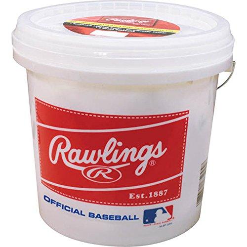 Rawlings Official League Recreational Baseballs & Bucket, 24 Count, R8U ()