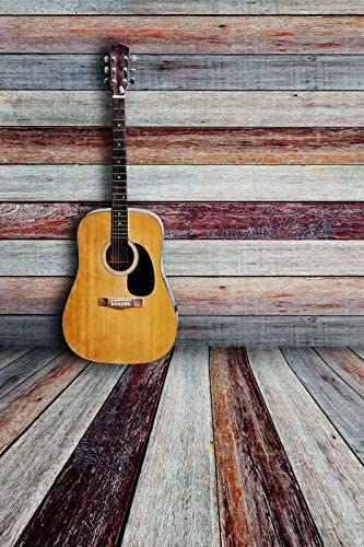 Guitar and Wood Board Wedding Baby Photography Background Custom Photography Studio Photography Background