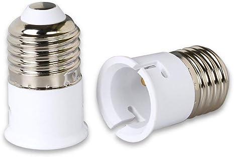 OSALADI 3Pcs Adaptateur de Support de Lampe E27 /à B22 Edison Adaptateur de Douille Dampoule Convertisseur de Base Prise de Conversion Support de Lampe pour La Lumi/ère de La Salle de