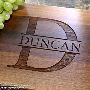 Name Personalized Engraved Cutting Board- Wedding Gift, Anniversary Gifts, Housewarming Gift,Birthday Gift, Corporate Gift, Award, Promotion. #201