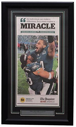 RARE Eagles Framed On Field Feb 4 2018 Super Bowl 52 Miracle Inquirer Page