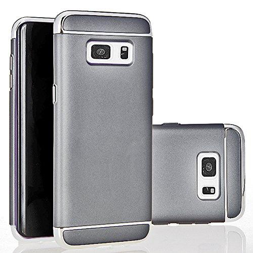 TPU Neo Hybrid Case for Samsung Galaxy S7 Edge (Grey) - 1