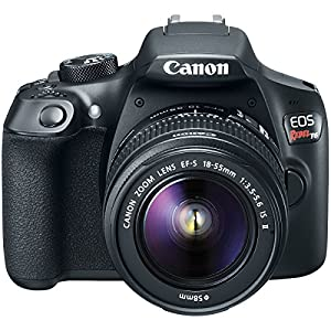Canon T6 EOS Rebel DSLR Camera + 18-55mm & 75-300mm Dual Lens Tascam Video Creator Kit from Canon
