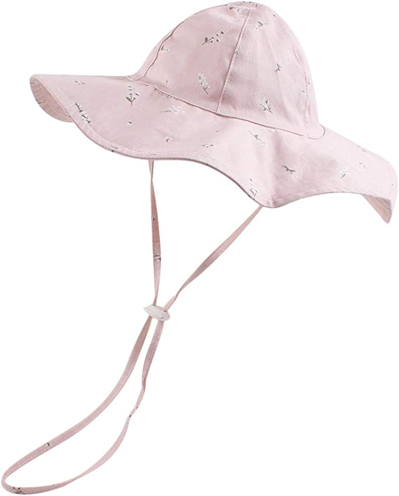 Peecabe Baby Sun Hat Cartoon Printed Infant Bucket Hat Adjustable Cute Girl Hat