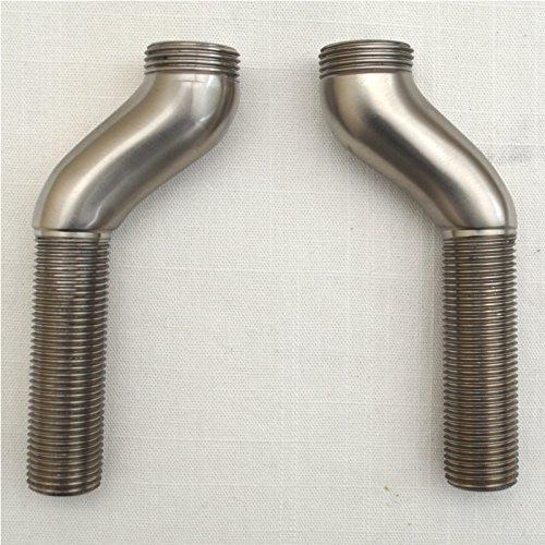 ENKI Bridge Kitchen Tap Leg Pillar Unions 70mm Threaded Pipe Brushed Nickel by ENKI ()