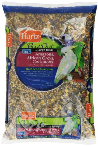 51K3UrhfC6L - HARTZ Amazon, African Grey, Cockatoo Large Bird Food - 8lb