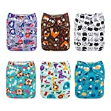 ALVABABY Cloth Diaper, One Size Adjustable Washable