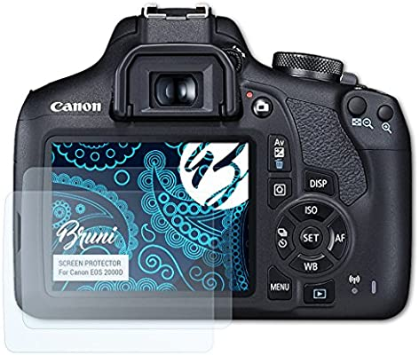 Bruni Película Protectora para Canon EOS 2000D Protector Película ...