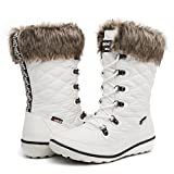 Globalwin Women's 1731 Winter Waterproof Snow Boots (7 D(M) US Women's, 1731White)