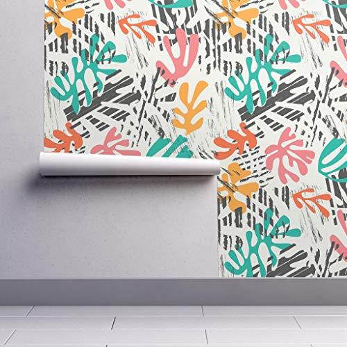 (Matisse Inspired Design Wallpaper Roll - Colorful Shapes Algae Shapes Vibrant Design Geometric Illustration Modern Design Abstract Design by Bluelela - 1 Roll 24in x 27ft)