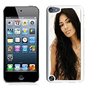 Beautiful Designed Cover Case With Nicole Scherzinger Girl Dress Brunette Face (2) For iPod Touch 5 Phone Case