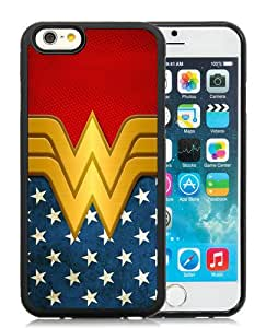 Unique iPhone 6S TPU Skin Case ,Fashionable And Durable Designed Phone Case With Wonder Women Black iPhone 6S Screen Cover Case