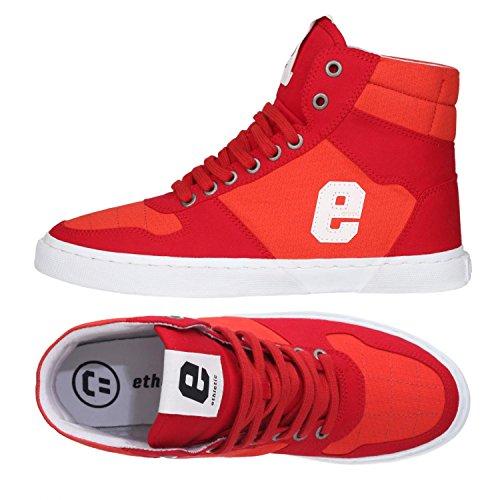 Ethletic Sneaker Vegan Hiro 18 - Farbe Grid Red Aus Bio-Baumwolle