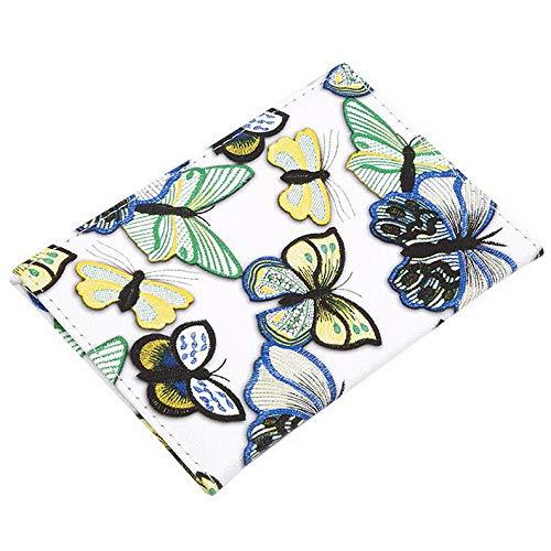 (Mikash New Design Passport Cover PU Leather Travel Butterfly Pattern Case Holder S | Model TRVLWLLT - 784)