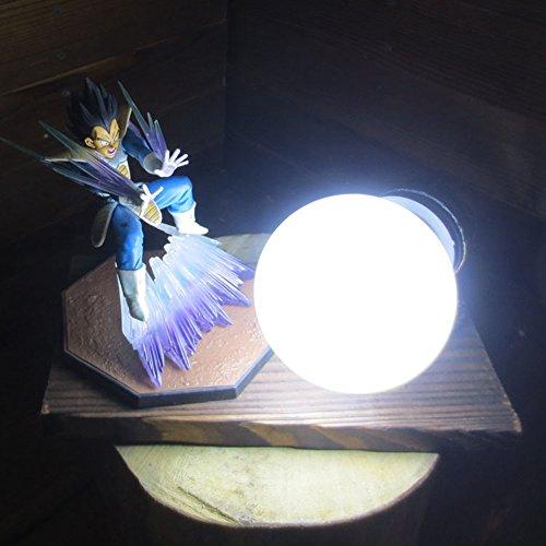 Dragon Ball Vegeta Fighting Form Genki Dama Spirit Bomb LED Table Lamp by Aurookeb