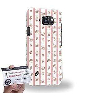 Case88 [Samsung Galaxy S6 Active] 3D impresa Carcasa/Funda dura para & Tarjeta de garantía - Art Design Floral Rose Wallpaper B