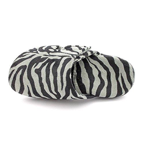 Orthaheel pour femme motif zébré chaussons gris de 6