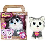 KD Kids Rescue Runts Husky Plush Dog, White/Gray