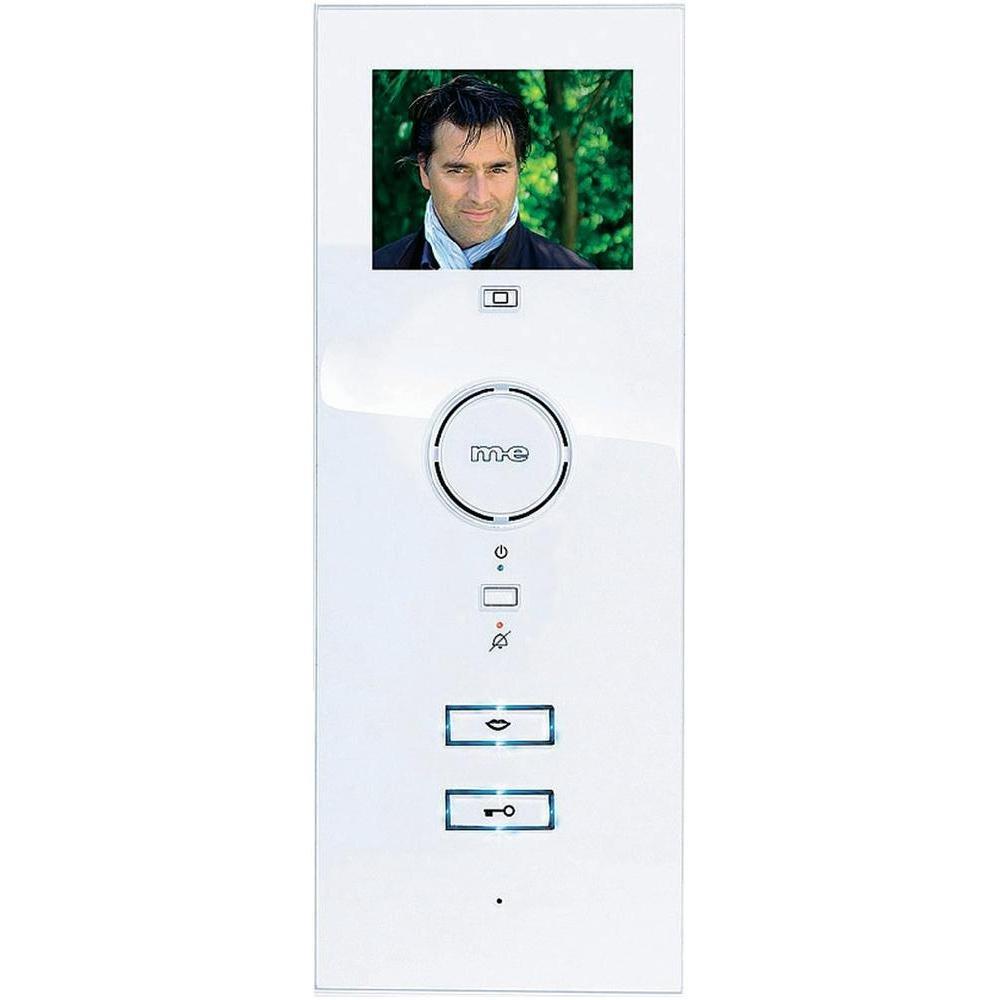 m-e VDV-503 Video-Innenstation mit 3,5 Zoll Farb-TFT-Bildschirm für m-e Vistadoor Videosprechanlage für Mehrfamilienhaus