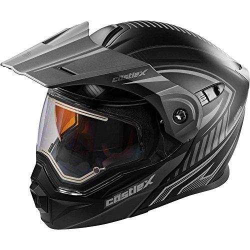 X-large Snowmobiles Helmets - Castle X EXO-CX950 Apex Electric Modular Mens Snowmobile Helmets - Black - X-Large