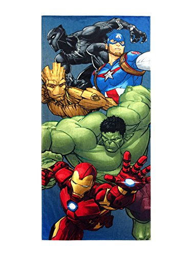 Jay Franco Marvel Avengers Infinity War Kids Bath/Pool/Beach Towel - Featuring The Avengers - Super Soft & Absorbent Fade Resistant Cotton Towel, Measures 28 inch x 58 inch (Official Product)