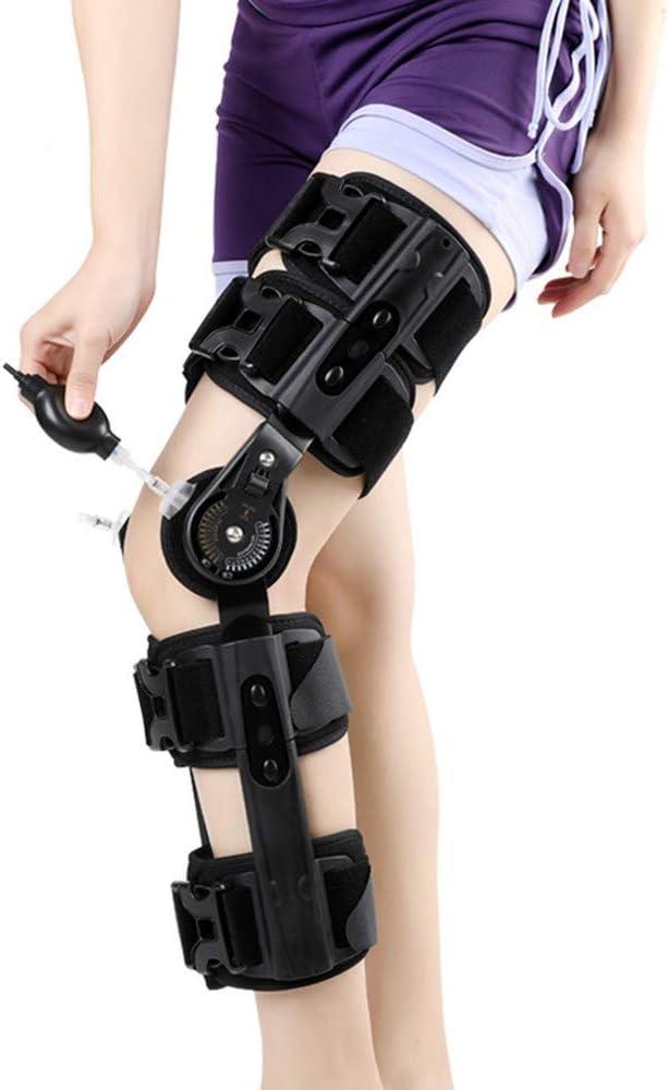 Rodillera Ortopedica Ligamento, Ortesis, para lesiones de LCA, PCL, tendones, ligamentos y meniscos, ortesis ortopédica de rodilla articulada para hombres, mujeres,Black