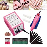 Electric Nail Drill Machine Efile Mothers Day Gift Nail File for Acrylics Nails Grinder Polisher Kit Manicure Pedicure Professional Set for Glazing Gel Nail, Nail Salon by MPNETDEAL (Pink)