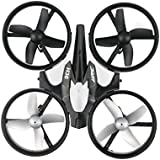 JJR/C H36 Mini Drone 2.4G 4CH 6Axis Gyro Headless Mode Remote Control RC Quadcopter RTF H/L Speed 360° Rolling One-key Return -Grey