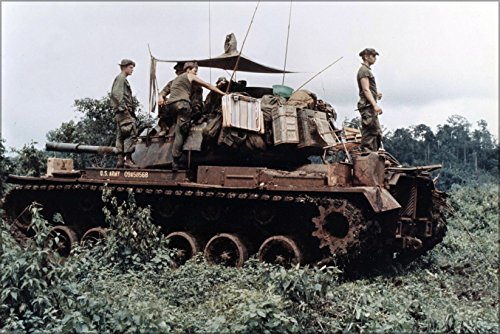 24x36 Poster; Men Of Troop B, 1St Battalion, 10Th Cavalry Regiment, 4Th Infantry Division, And Their M-48 Patton Tank In An Position In The Jungles In The Central Highlands Of Vietnam, June 1969 ()