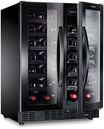 Dometic MaCave S40FGD - Botellero de vino, 40 botellas, nevera de vino con dos zonas de temperatura, nevera para bebidas con puerta de cristal[Clase de eficiencia energética A]