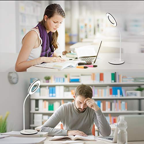 Miady LED Desk Lamp Eye-Caring Table Lamp, 3 Color Modes with 4 Levels of Brightness, Dimmable Office Lamp with Adapter, Touch Control Sensitive, 360° Flexible by Miady (Image #6)