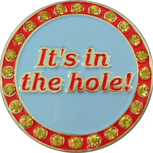 Marker & Hat Clip with Crystals - It's In The Hole (Caddyshack Golf Ball)