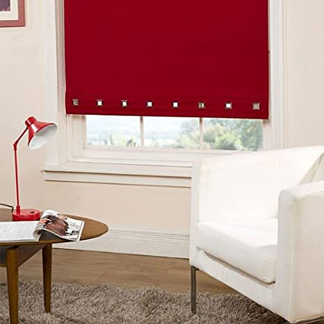 Emma Barclay Square Eyelet Roller Blind Red W180cm Amazon Co Uk Kitchen Home