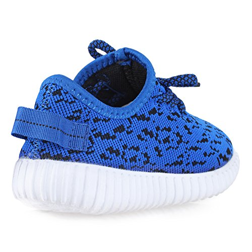 BLINX Boys Jogger Woven Knit Upper Casual Sneakers Shoes Royal Blue 13 by BLINX (Image #5)