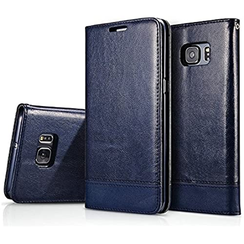 Galaxy S7 Edge Case, Leebay Flip Wallet Leather case, Stand Feature Premium Folio Case with STAND Card slots Cover Sales