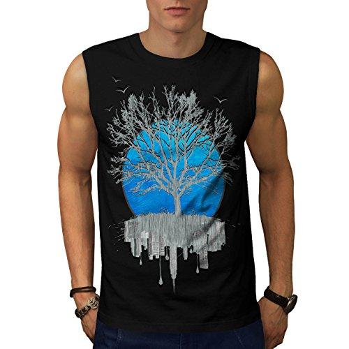 Urban Mirror Tree City View Men NEW XL Sleeveless T-shirt | Wellcoda (City View Shirt)