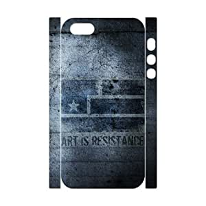 Iphone 5/5S Case 3D, Art Is Resistance Case for Iphone 5/5S white lm5s176617