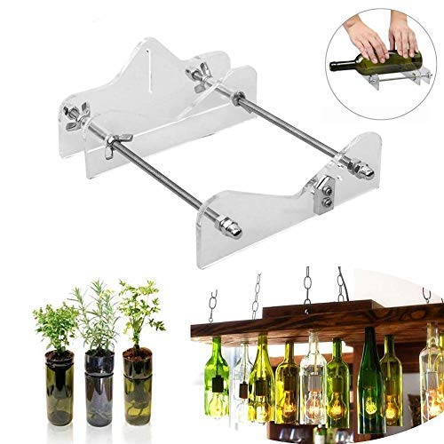 RAINBEAN DIY Glass Bottle Cutter Machine Tool, Bundle Wine Beer Champagne Bottles and Jars Cutting Tool Kit for Home Bar Decoration Make Crafts,Easy Operation,Suitable for Most Glass Bottle ()